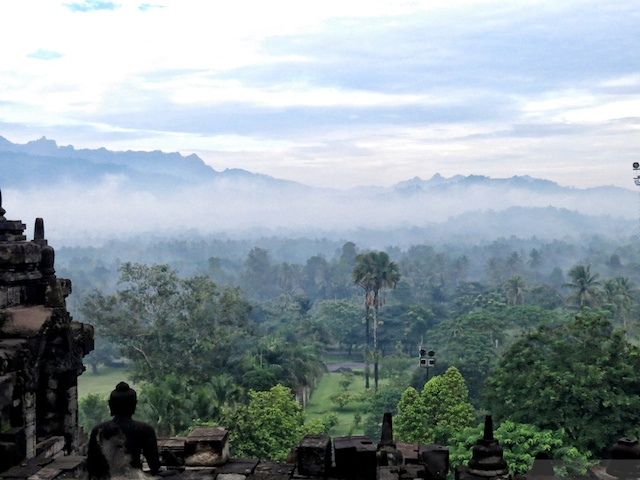 view from Borobudur